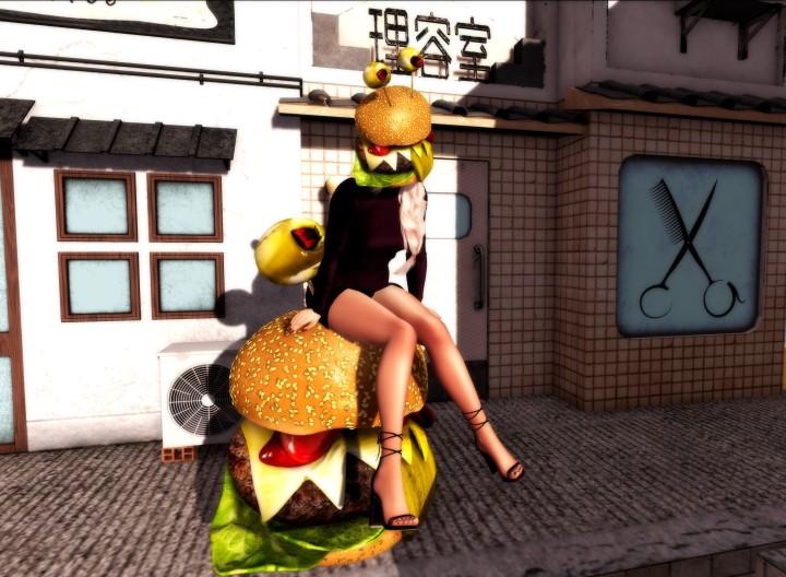 Burger with sauce